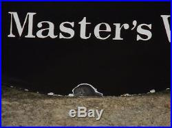 1930s Original Vintage ENAMEL His Master's Voice RCA Victor SIGN Nipper Dog