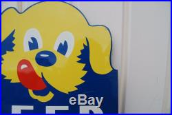 1950's Vintage Ken-L-Ration Feed Your Dog The Best Die Cut Sign! Hard to find