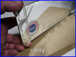 1950s Antique Auto nos Standard oil station Visor mirror Vintage Chevy Ford Gas