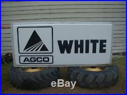 Agco White Vintage Dealer 2-Sided lighted Sign (New Old Stock) never put up
