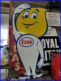 Antique Vintage Old Look Esso Oil Drop Sign 42inches
