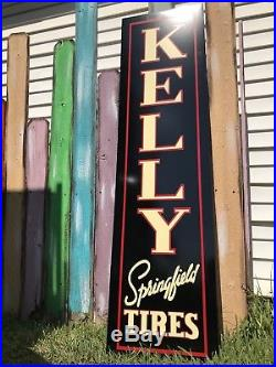 Antique Vintage Old Style Kelly Springfield Tires Sign 60