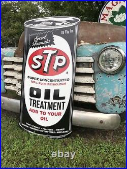 Antique Vintage Old Style STP Motor Oil Can