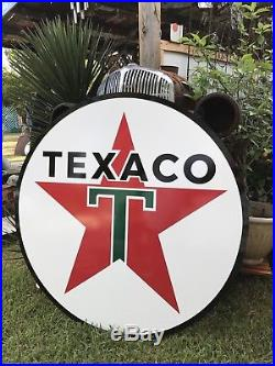 Antique Vintage Old Style Texaco Gas Oil Sign! 40