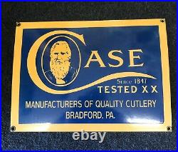 Case XX Knives Porcelain Sign SIZE 10 3/4 X 14 3/4 INCHES Vintage Very Rare