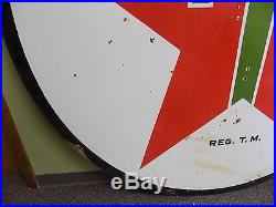 Clean 72 Texaco Double Sided 1947 Porcelain Sign Gas Station Metal Vtg Rare
