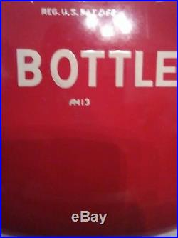 Coca Cola Button Sign Vntg Drink Coca Cola In Bottles 12 Beautiful 1950s-60s
