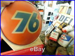 Cool Vintage Union 76 Light Up Gas Service Station Sign 21 by 8 inches