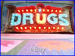 Custom Vintage Marquee lights art DRUGS emmettsauction The Parker Palm Springs