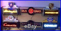 Ford Mustang Neon Sign! Metal Vintage Parts And Service Dealership Sign