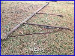 Gas and Oil Vintage Sign Mounting Steel Pole made in USA Canton, Ohio