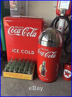 ICE COLD coca cola vintage Westinghouse Jr. Cooler And Trash Can