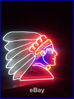 Indian Motorcycle, Vintage Neon Sign, 1940's, Authentic