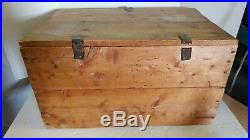 Kennedy's Biscuit Box large wooden advertising vintage with lid 1901 signed VT