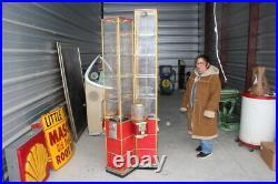 Large Unusual Vintage Beaver Gumball & Toy Coin-Op Candy Vending Machine Sign
