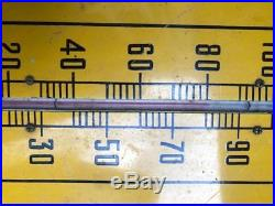 Large Vintage RC Royal Crown Cola Soda Pop Metal Thermometer Sign 1940's