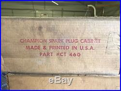 NEW Vintage Champion Spark Plug Wall Cabinet ORIGINAL EVERYTHING MUST SEE USA