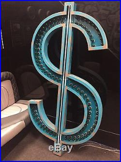 New York Rustic US dollar Very Cool Retro Neon Sign Vintage Illuminated Sign