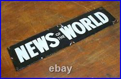 News of the World 1940s advertising enamel sign vintage retro antique industrial