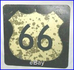 ORIGINAL AUTHENTIC VINTAGE 1960's ROUTE 66 HIGHWAY SIGN 24 X 24 From ROLLA MO