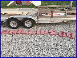 ORIGINAL VinTaGE PHILLIPS 66 Sign STATION LETTERS Gas Oil OLD & BIG Wall Canopy