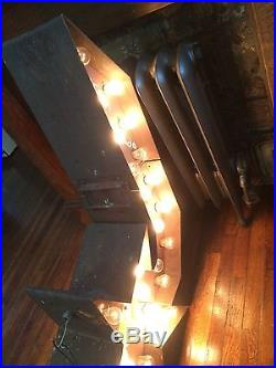 Old Rare Original Vintage Double Sided Flashing Arrow Sign Advertising Neon