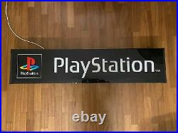 Original PLAYSTATION Sign Vintage SONY Videogame Neon Lighted Console NOS 1990s