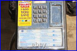 Original Vintage Metal Push Button Coin-Op Pay Phone Payphone Telephone Sign
