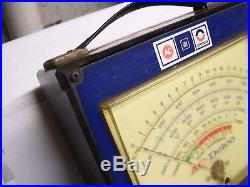 Original vintage 70s GM AC DELCO automobile Tune up tester meter gauge auto part