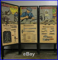 RARE 1920s WINCHESTER Junior Rifle Corps Advertising 5 Panel Set Display Poster