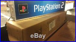 RARE PlayStation 2 NEW IN BOX Vintage Promotional Store DISPLAY PS2 LIGHTED SIGN