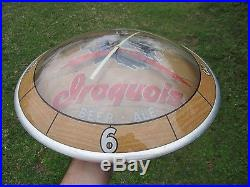 Rare Vintage Light Up Double Bubble Iroquois Beer Ale Indian Chief Clock Sign