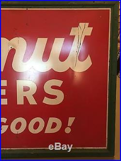 RARE Vintage BUTTERNUT Crackers Are Extra Good Metal Advertising Sign 72x36