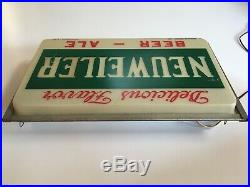 RARE! Vintage NEUWEILER BEER Lighted 20 Brewery Advertising Sign Allentown PA