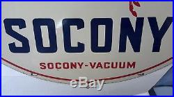 REDUCED asking price RARE VINTAGE SOCONY, SOCONY-VACUUM SIGN