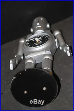 ROBOT MIDO WATCH store advertising display trade sign 17 large vintage clock