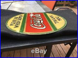 Rare 1920s Coca Cola Sign Reverse Painting Please Pay When Served 11 Vintage