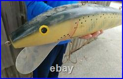 Rare! Old GIANT RAPALA LURE STORE SIGN 27 hardware fishing bait shop trade