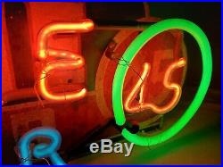 Rare Original Vintage Dixie Beer 45 Neon Sign Working New Orleans Beautiful