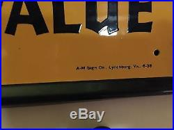Rare Town Talk Bread Sign 1938 man cave mint advertising vintage AM sign co