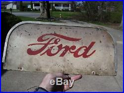 Rare Vintage 1950's Ford Motor company Oil gas original old Sign service parts