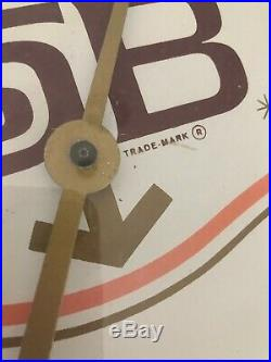 Rare Vintage 1960's Tab Soda Round Glass Thermometer By Coca-Cola Pam Style