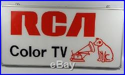 Rare Vintage Rca Color Tv Display Sign Dog Nipper Big Sign In Mint Condition