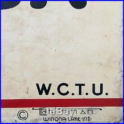Rare Vintage WCTU Sign Death Rides with the Drinking Driver not Porcelain