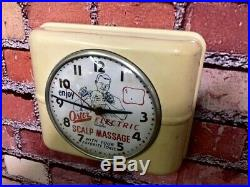 Rare Vtg Westclox Old Barber Shop Advertising Oster-gem-eveready Wall-clock Sign