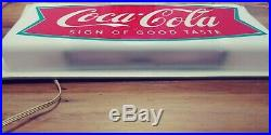 Rare vintage Coke Cola Fishtail 24 inch lighted sign. Nice