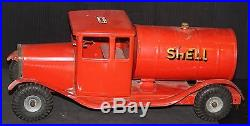SHELL TRIANG VINTAGE TRUCK 17 oil gas service station advertising sign TANKER