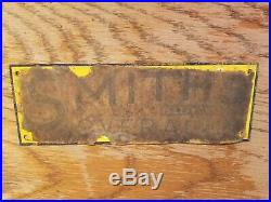 Smiths Overalls Tin Sign General Store Clothing Vintage Original Old Farm Jeans