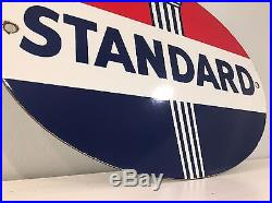 Standard Oil Company Torch Sign Steel Thick Porcelain Vintage Gas Gasoline