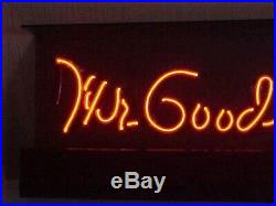 Super Rare Vintage Gm Dealer Neon Window Sign Mr Goodwrench Scarce Hard To Find